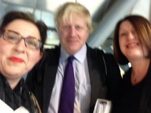 Nicky Richmond Selfie with Boris Johnson